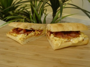 bacon & egg all day breakfast roll