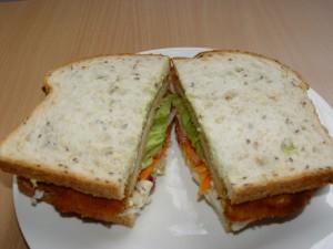 Schnitzel Sandwich on  Multigrain