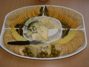 Crackers & Gourmet cheese Platter