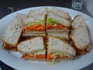 Schnitzel Sandwiches Platter
